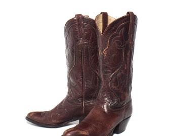 7 C | 1970's Dan Post Women's Cowboy Boots