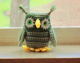 Owl - Sage Greens (finished doll)
