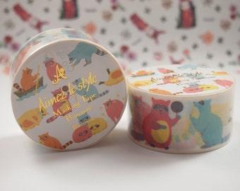 Raccoons Aimez le style Washi Tape (28mm X 7M) 05250