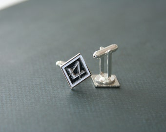 Freemason Cufflinks Mason accessories Mens Accessories - made with detailed buttons