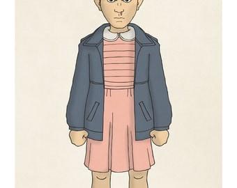 Eleven - Stranger Things - Illustration Print