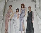 Vintage 90s Ladies Suit Pattern McCalls 7952 Size 6 Sleek Sexy Suits Skirt Suit Pants Suit with Double Breasted Vest 90s Elegance