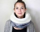 Womens tartan neck warmer, tartan wool cowl, womens scarf, Snock® in various shades of blue tartan wool