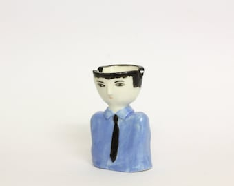 Ashtray Man - ceramic little sculpture