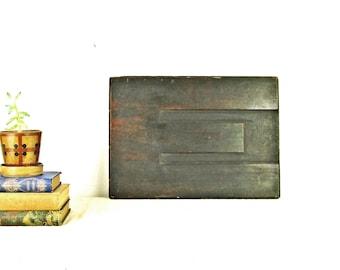 "letterpress printers block E initial antique wood type HUGE 17"" x 12"" bold font circa 1920"