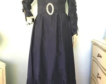 1970s Formal Taffeta Prairie Gown
