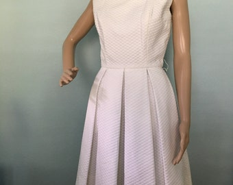 Donald Brooks White Pleated Dress for I. Magnin's