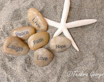 Beach Rocks and Starfish Photography, Beach Photography, Ocean Photo