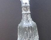 Hobnail Glass Decanter Vintage Liquoir Bottle Shelf Decor