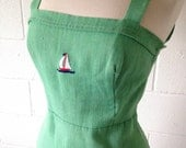 Nautical Sailor Dress 50's 60's Sundress