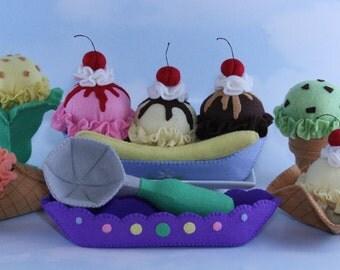 Felt Food Ice Cream Sewing Pattern