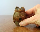 RESERVED Small Vintage Carved Wood Tanuki Figurine