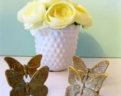 Vintage Butterfly Napkin Rings Brass Kitchen Diningroom set of 4