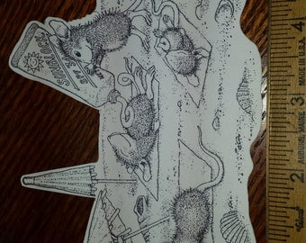 4 House Mouse Catchin' the Rays Cutouts from House Mouse Stampa Rosa Rubber Stamps