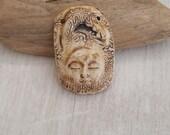 Horse  Goddess  ceramic porcelain healing pendan ooak art bead