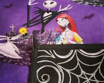 """NIGHTMARE BEFORE CHRISTMAS Pinafore Apron, Jack Skellington """"no tie apron"""" -fits plus size -all day apron"""