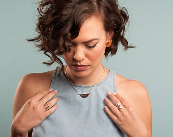 Gold Fill or Sterling Silver Phase Necklace | Voyager Collection from Haley Lebeuf