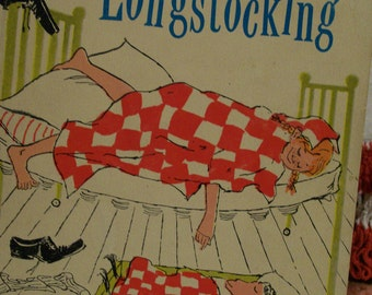 Vintage Pippi Longstocking 4th Printing 1962 Paperback