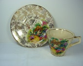 Vintage HOMESTEAD DEMITASSE CUP Tea H K Tunstall English Chintz