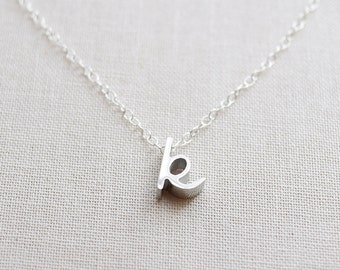 Silver Cursive Initial Necklace - 1160