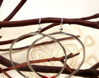 Recycled Guitar String Hoops