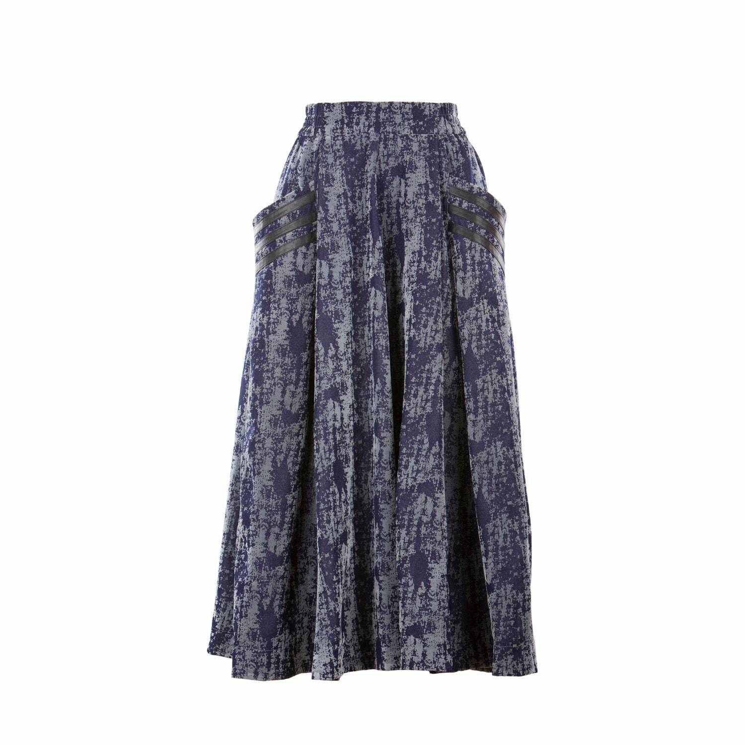 Denim skirt wide mid-calf skirt women's skirt fully