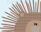 "Nursery / Kids Prints - Woodland.  Porcupine ""Headshot"""