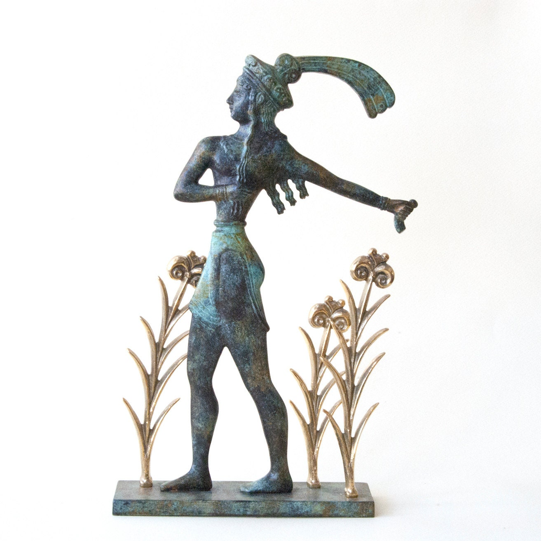 Knossos Prince Of The Lilies Cretan Minoan Bronze Sculpture