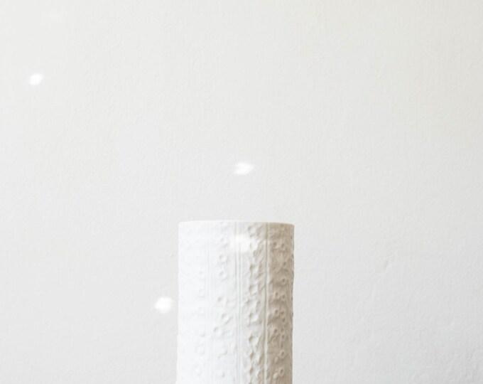 Mid Century Textured Matte White Porcelain Vase // Martin Freyer for Rosenthal