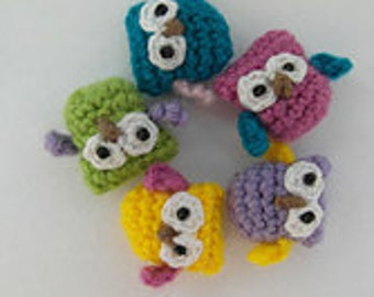 Oh, so tiny Owl crochet PATTERN - PDF instructions