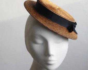 Straw Boater Hat - Monroe