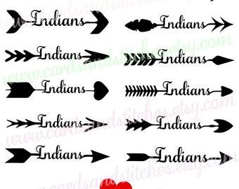 Arrows SVG - Arrow Indians SVG - Arrow Words SVG - Digital Cutting File - Cricut Cut File - Instant Download - Svg, Dxf, Jpg, Eps, Png