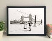 Tower Bridge 30 x 21 cm fine art print