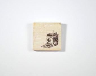 Art Blocks, Vintage Camera, Camera silhouette , Art Block, Wood Printing, Wood Block Art, Camera Print, Small Art