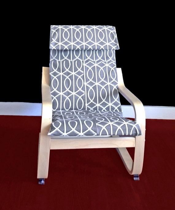 Ikea Algot Wall Upright Shelves ~ IKEA KIDS POÄNg Cushion Slipcover  Dwell Studio Bella Porte Charcoal