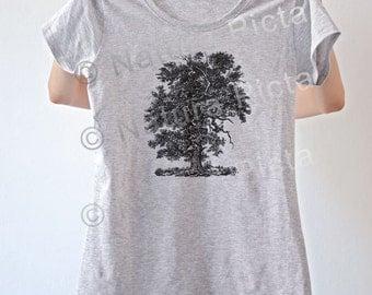Majestic oak tree T-shirt-Vintage Oak tree tees-oak tees-oak tree women tees-oak tree top vest-oak tree women tank top-NATURA PICTA NPTS039