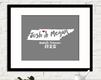 Wedding Guest Book Alternative Wedding Guestbook Unique Wedding Guestbook Art Bride & Groom Custom Name Sign Personalized Sign - Any STATE