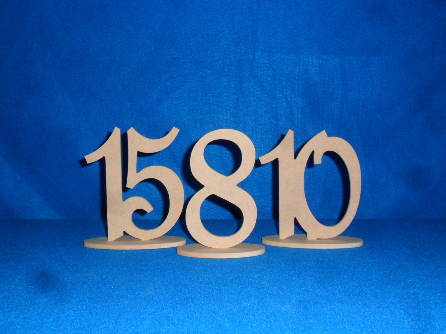 Superb img of Wooden Table Numbers 1 10 with 6 Number Oval Base by FranksCrafts with #0082CB color and 1500x1125 pixels