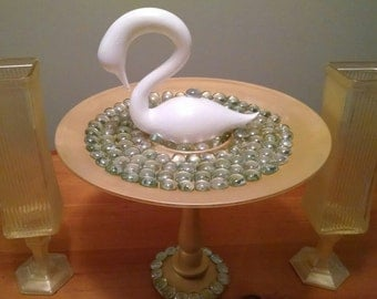 Gold Cupcake Stand Swan Candle Holder Centerpiece
