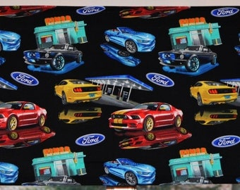 Mustang Valance . Muscle Car Fabric . Custom Curtains . Handmade by Pretty Little Valances