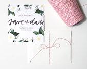 Printable Save the Date Template, Customizable Digital Wedding Invitation, DIY Modern Watercolor Invitation, Brush Lettering