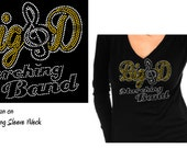 Custom Order for Lori Bling Big D Marching Band Custom  Rhinestone Shirt