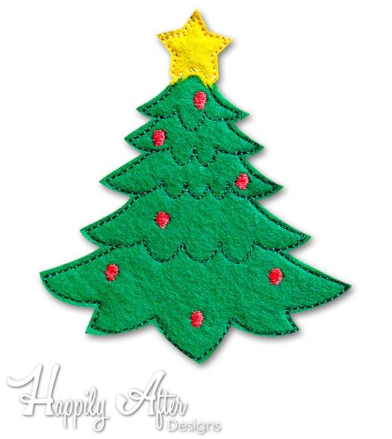 Christmas Tree Feltie Embroidery Design Christmas Feltie