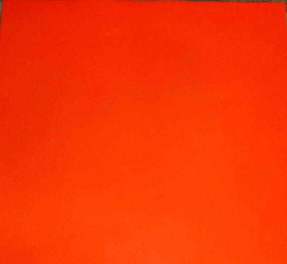 neon leather 8x10 thin bright orange neon firm. Black Bedroom Furniture Sets. Home Design Ideas