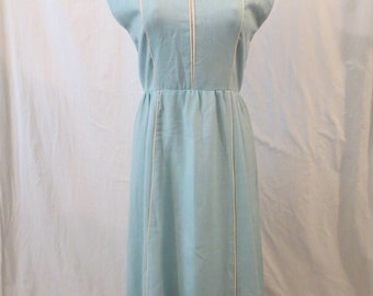 SPACE AGE mod day dress - David Warren - pastel seafoam aqua A-line sz S