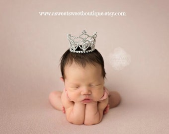 Newborn Photo Prop Crown Newborn Crown Baby Crown Full Rhinestone Crown Headband Crystal Crown Princess Crown Princess Halloween Costume