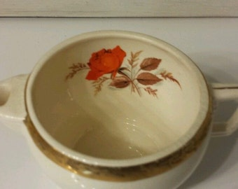 Vintage American Limoges Rose Creamer Vintage Serving Kitchen Free Shipping