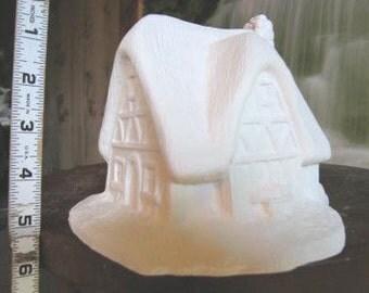 Thatch House, Minature house, race track, train track, Christmas decoration, Farm House, Ready to paint, Ceramic bisque,u-paint