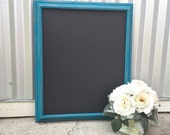 Large 16 x 20 Teal Framed Shabby Chic Chalkboard/Blackboard for Wedding, Home, Office, Beach House
