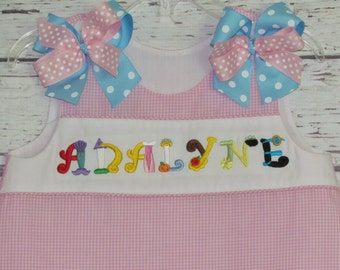 Princess name monogram A-line dress  Princess Birthday Dress Bloomer Set
